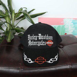 DeadStock Flame Logo Harley Davidson Dad Cap Hat